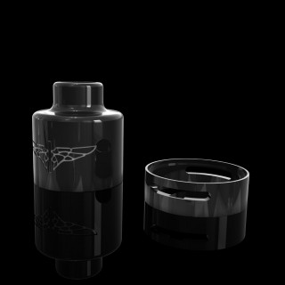 Perseus V2 Black Ultem Dripper Body With Black Ultem Air Ring