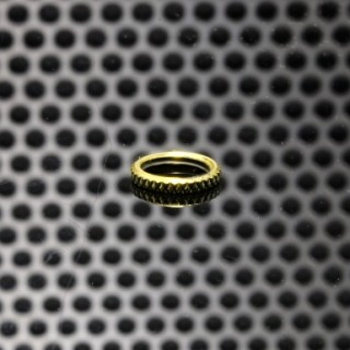 GGTS-JustGG-Stealth-GGTB Button Adjustable Path Ring Brass
